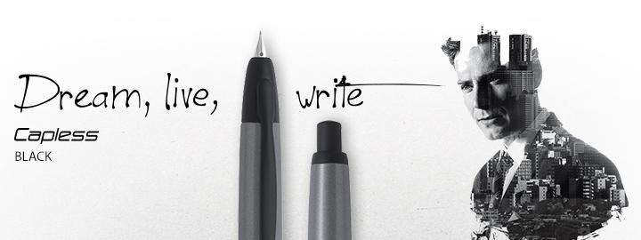 Capless Black - Pilot Fine Writing