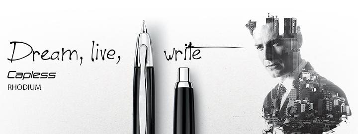Capless Rhodium - Fine Writing Pilot